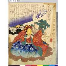 落合芳幾: 「太平記英勇伝」 「三十五」「滝川左近一益」 - 東京都立図書館