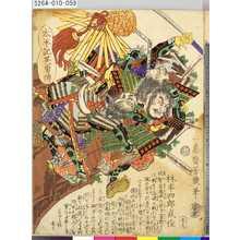 Ochiai Yoshiiku: 「太平記英勇伝」 「五十九」「林半四郎武俊」 - Tokyo Metro Library