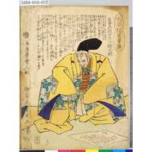 Ochiai Yoshiiku: 「太平記英勇伝」 「七十二」「長曽我部宮内少輔元親」 - Tokyo Metro Library