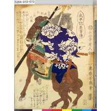 落合芳幾: 「太平記英勇伝」 「七十三」「長曽我部弥三郎信親」 - 東京都立図書館