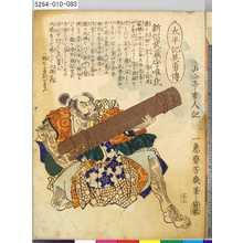 Ochiai Yoshiiku: 「太平記英勇伝」 「八十三」「新侶武蔵守唯氏」 - Tokyo Metro Library