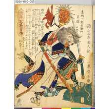Ochiai Yoshiiku: 「太平記英勇伝」 「八十五」「真柄十郎左衛門直澄」 - Tokyo Metro Library