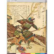 落合芳幾: 「太平記英勇伝」 「八十九」「森本儀太夫」 - 東京都立図書館