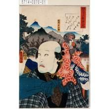 Utagawa Kunisada: 「見立三十六歌撰之内 猿丸太夫」「猿廻シ与次郎」 - Tokyo Metro Library