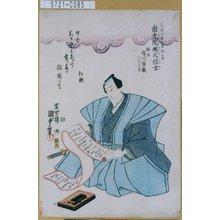 Utagawa Kunisada II: 「俗名 市川市蔵 三十三才」 - Tokyo Metro Library