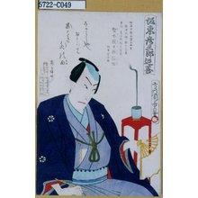 Morikawa Chikashige: 「坂東彦三郎追善」 - Tokyo Metro Library
