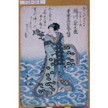 歌川国安: 「瀬川菊之丞」 - 東京都立図書館