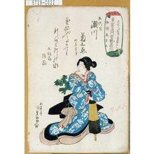 Utagawa Kunisada: 「五代目瀬川菊之丞」 - Tokyo Metro Library