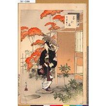 Mizuno Toshikata: 「三十六佳撰」 「茶の湯」「宝永頃婦人」 - Tokyo Metro Library