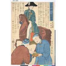 歌川貞秀: 「五箇国人物図絵」 「魯西亜国附南京」 - 東京都立図書館