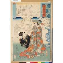 歌川国芳: 「源氏雲浮世画合」 「八」「花の宴」「ひな鳥」 - 東京都立図書館