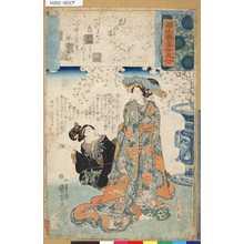 Utagawa Kuniyoshi: 「源氏雲浮世画合」 「八」「花の宴」「ひな鳥」 - Tokyo Metro Library