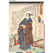 歌川国芳: 「太平記英雄伝」 「五」「建中官兵衛重治」 - 東京都立図書館