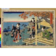 Utagawa Kunisada: 「其姿紫の写絵」 「十二」 - Tokyo Metro Library