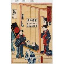 歌川国貞: 「踊形容新開入之図」 - 東京都立図書館