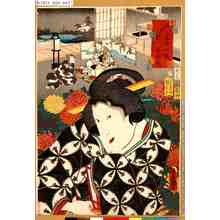 Utagawa Kunisada: 「江戸紫五十四帖 第六 末摘花」 - Tokyo Metro Library