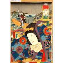 Utagawa Kunisada: 「江戸紫五十四帖 第十弐 須磨」 - Tokyo Metro Library