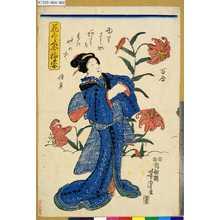 Utagawa Yoshitora: 「花くらべ今様姿」 「百合」 - Tokyo Metro Library