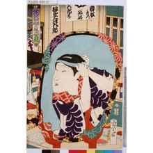 豊原国周: 「花盛楽屋姿見」 - 東京都立図書館