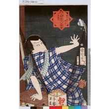Toyohara Kunichika: 「見立白浪八景 広小路の晴嵐 牛若伝治」 - Tokyo Metro Library