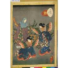 Utagawa Kunisada II: 「紫式部げんじかるた」 「廿四」「胡蝶」 - Tokyo Metro Library