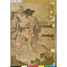 Katsukawa Shunzan: 「海道名物志」 「さつた山」 - Tokyo Metro Library