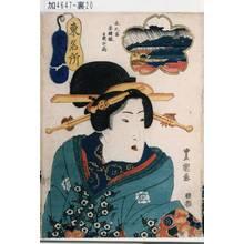 歌川豊重: 「東名所 芝八景 水天宮赤羽根夜の雨」 - 東京都立図書館