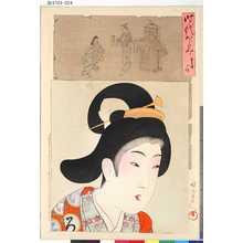 Toyohara Chikanobu: 「時代かゞみ」 「享保の頃」 - Tokyo Metro Library