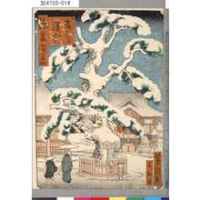 芳瀧: 「浪華百景」 「森の宮蓮如松」 - Tokyo Metro Library