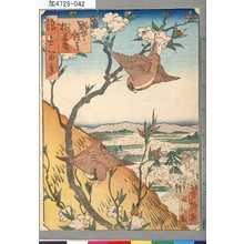 芳瀧: 「浪花百景」 「野中観音桃華盛り」 - Tokyo Metro Library