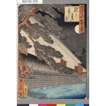 Utagawa Kunikazu: 「浪華百景」 「鮹の松夜の景」 - Tokyo Metro Library