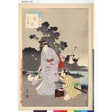 水野年方: 「三十六佳撰」 「螢狩」「天明頃婦人」 - 東京都立図書館