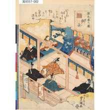 Utagawa Kunisada: 「源氏香の図」 「桐壺」 - Tokyo Metro Library