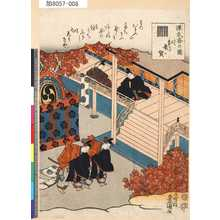 Utagawa Kunisada: 「源氏香の図」 「紅葉賀」 - Tokyo Metro Library