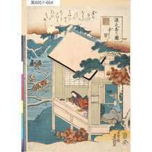 Utagawa Kunisada: 「源氏香の図」 「手習」 - Tokyo Metro Library
