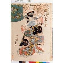 Utagawa Kunisada: 「白拍子桜子 瀬川菊之丞」 - Tokyo Metro Library