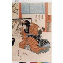 歌川豊国: 「鬼王女房月さよ 瀬川菊之丞」 - 東京都立図書館
