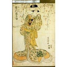 Utagawa Toyokuni I: 「尾のへ 市川団之助」 - Tokyo Metro Library