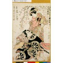 Utagawa Toyokuni I: 「忠信 嵐三五郎」「しづか 市川団之助」 - Tokyo Metro Library