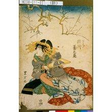 Utagawa Toyoshige: 「とら 瀬川菊之丞」 - Tokyo Metro Library