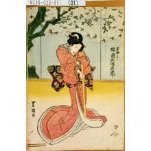 Utagawa Toyoshige: 「岩ふじ 坂東三津五郎」 - Tokyo Metro Library
