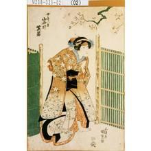 Utagawa Kunisada: 「女房八重 岩井紫若」 - Tokyo Metro Library
