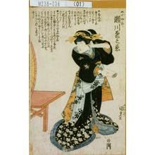 歌川国貞: 「▲小女郎 瀬川菊之丞」 - 東京都立図書館