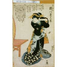 Utagawa Kunisada: 「▲小女郎 瀬川菊之丞」 - Tokyo Metro Library
