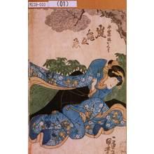 Utagawa Kuniyoshi: 「永楽屋娘おくみ 嵐亀之丞」 - Tokyo Metro Library