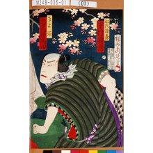 Toyohara Chikanobu: 「船頭浪蔵 中村時蔵」「きよ姫 助高屋高助」 - Tokyo Metro Library