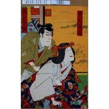 Toyohara Kunichika: 「乳母秋志乃 中村芝翫」「竜川小文治 関三十郎」 - Tokyo Metro Library