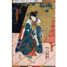 歌川国貞: 「与茂作娘おのぶ」 - 東京都立図書館
