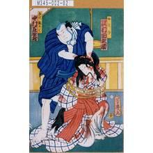 Ochiai Yoshiiku: 「おとみ 沢村田之助」「手代銀ろく 中村芝歌蔵」 - Tokyo Metro Library