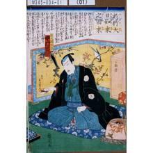 Toyohara Kunichika: 「於竹大日如来之由来」「佐久間の長 中村芝翫」 - Tokyo Metro Library